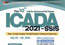 ขอเชิญร่วมงานประชุมวิชาการระดับนานาชาติ The Tenth International Conference on Advancement of Development Administration 2021—Social Sciences and Interdisciplinary Studies (the 10th ICADA 2021—SSIS) (the 10th ICADA 2021—SSIS)